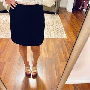 Loft Black Mini Skirt Size 0P